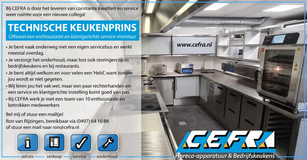 Vacature Werken in De Kempen Cefra Bedrijfskeukens Reusel Servicemonteur